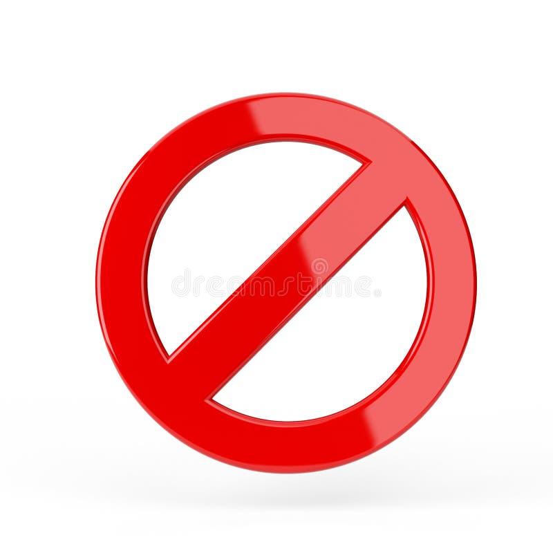 Sinal proibido vermelho ilustração do vetor