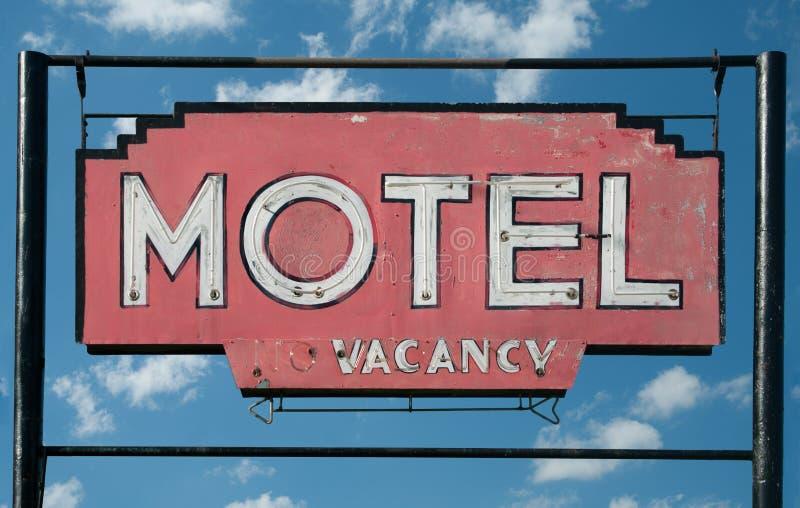 Sinal rústico do motel fotos de stock royalty free