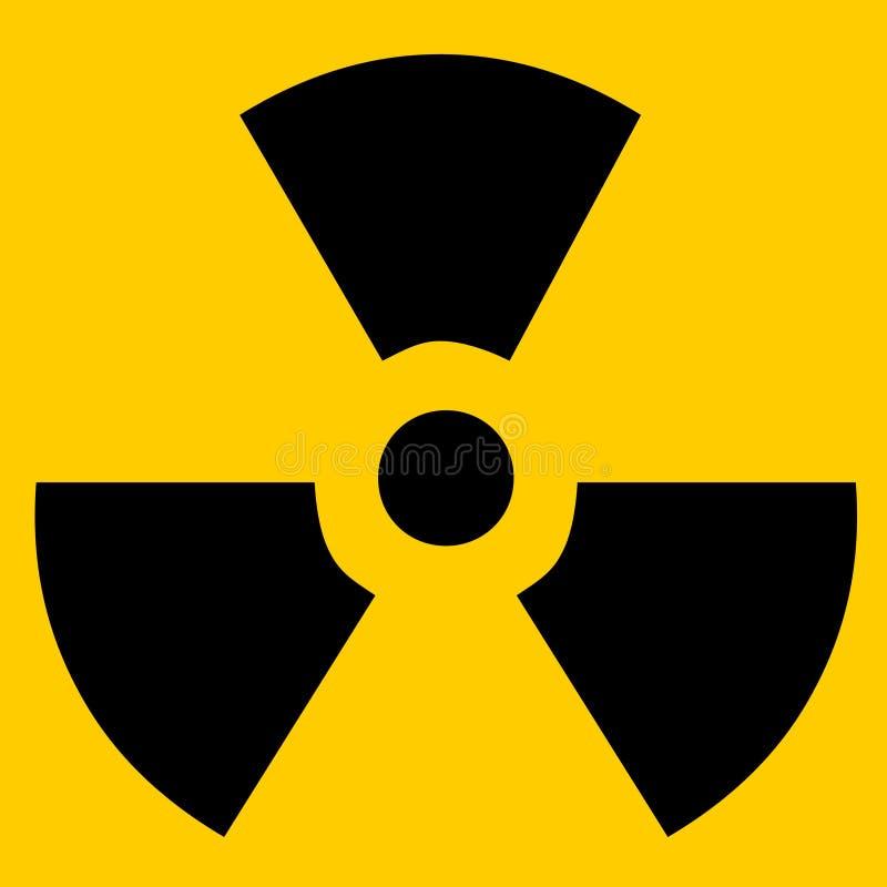 Sinal radioativo ilustração stock