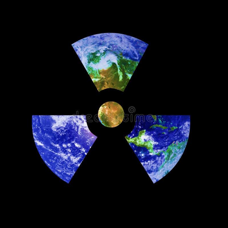 Sinal radioativo da terra ilustração do vetor