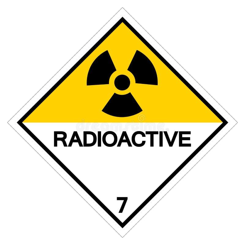 Sinal radioativo de advertência do símbolo, ilustração do vetor, isolado no fundo branco, etiqueta EPS10 ilustração stock