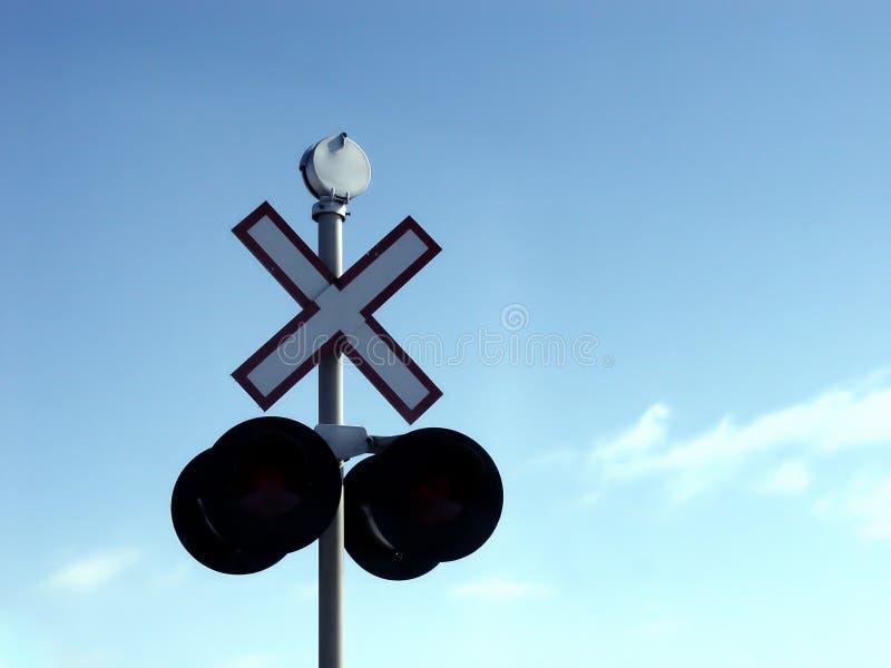 Sinal Railway Imagens de Stock