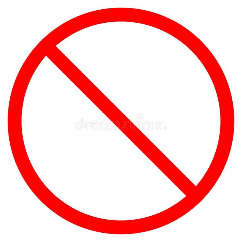 Sinal realístico da proibição da estrada do tráfego isolado em um fundo branco Estrada cruzada vermelha do signage do ícone do ve ilustração do vetor