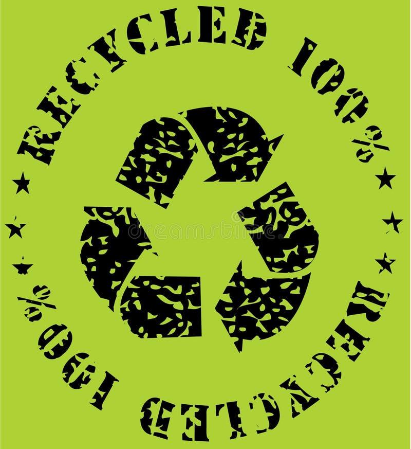 sinal Recicl-ecológico ilustração do vetor