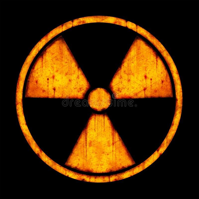 Sinal redondo do â da radiação ilustração royalty free