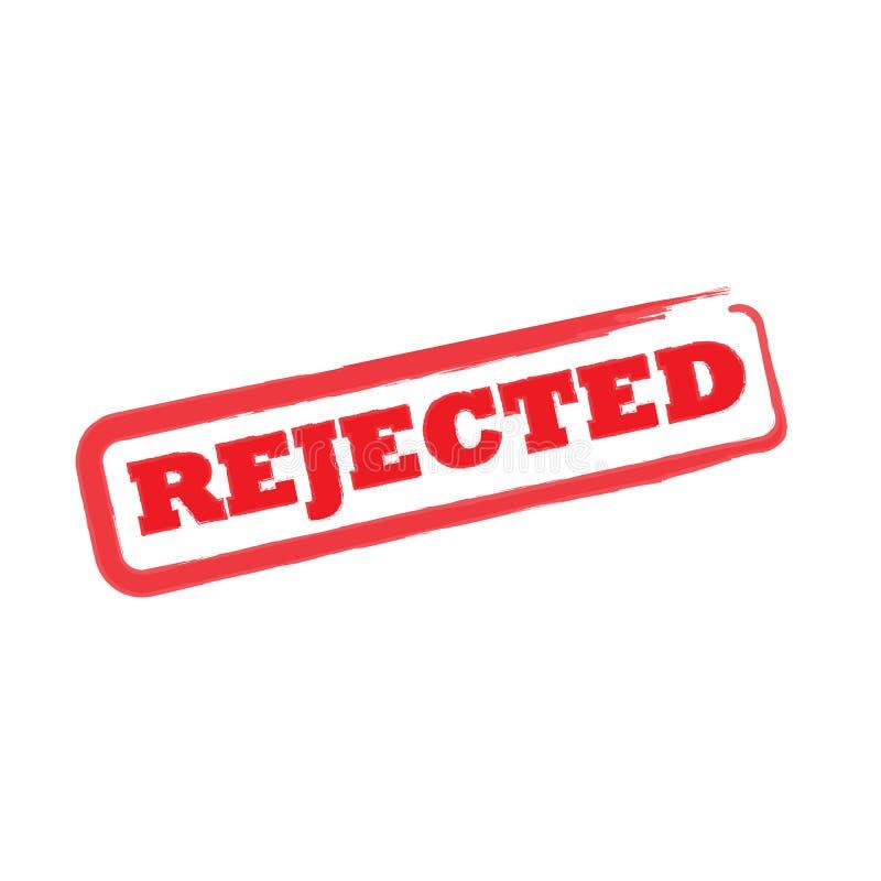 Sinal rejeitado do selo ilustração do vetor