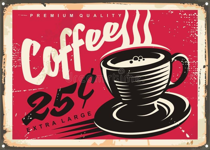 Sinal relativo à promoção da cafetaria do vintage ilustração royalty free