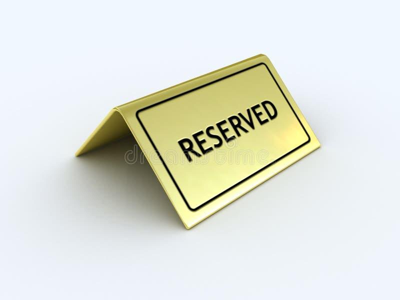 Sinal Reserved ilustração royalty free