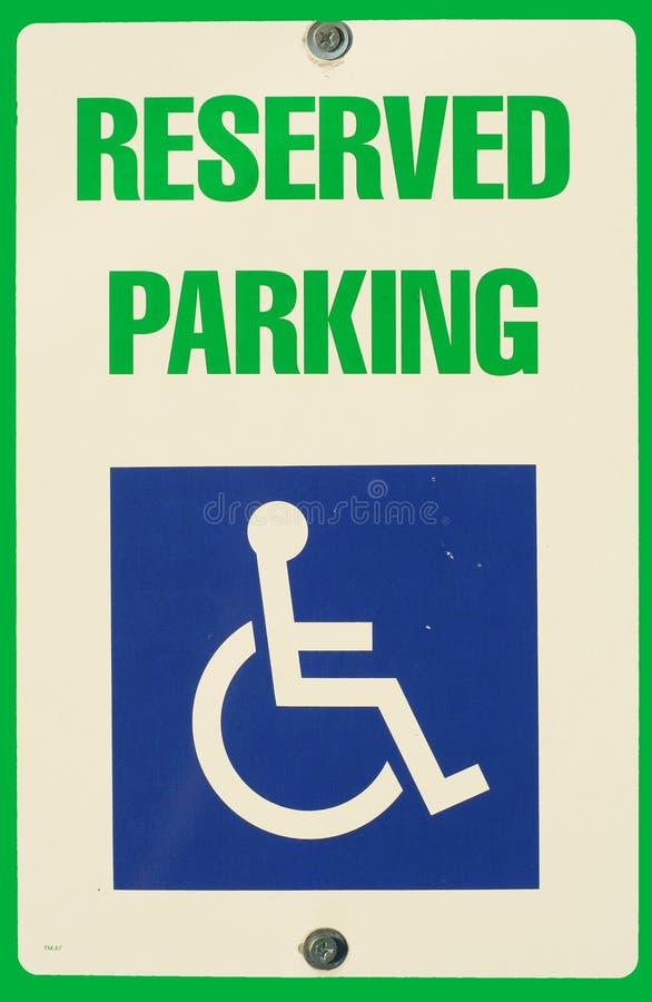 Sinal Reserved do estacionamento fotos de stock royalty free