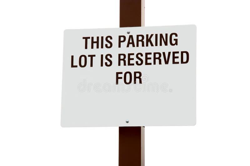 Sinal Reserved do estacionamento imagens de stock royalty free