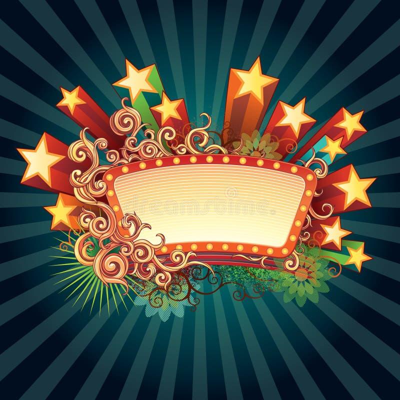 Sinal retro da estrela ilustração royalty free
