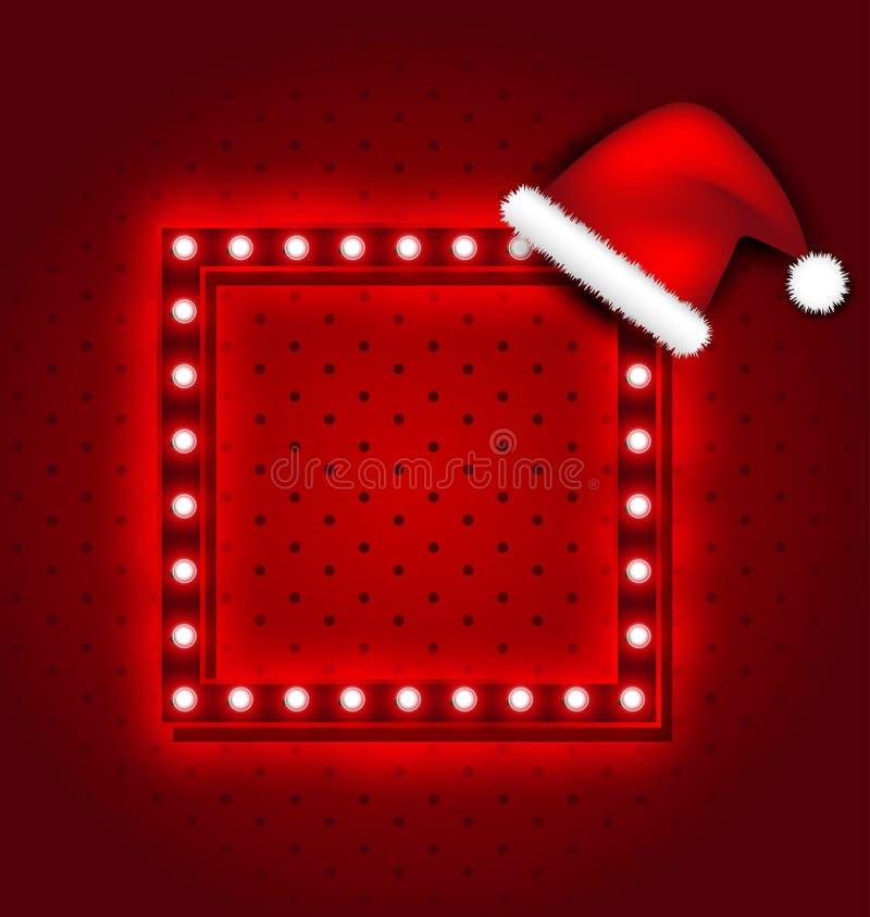 Sinal retro do Natal ilustração do vetor