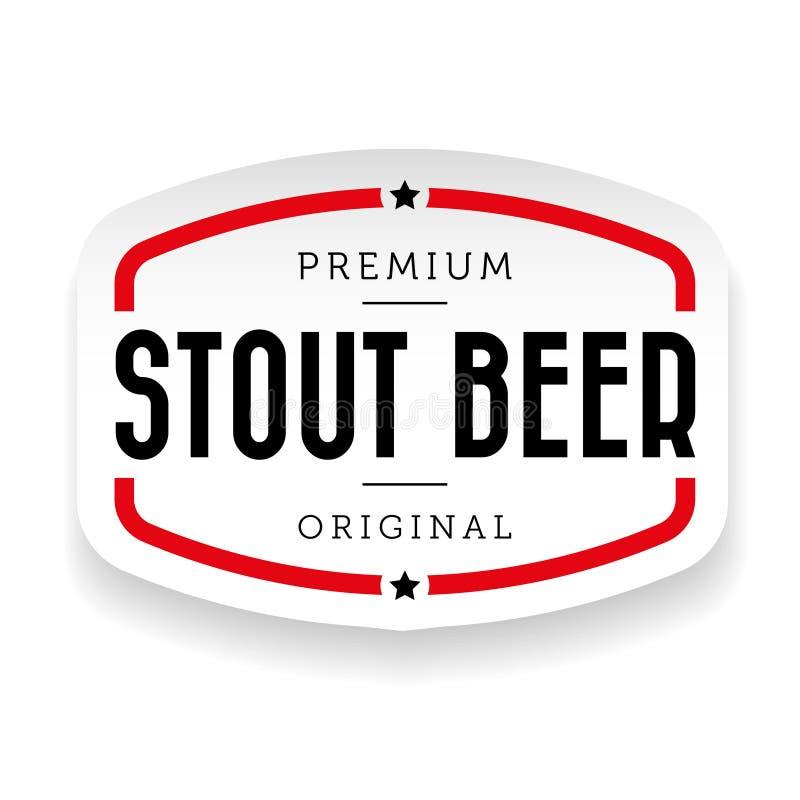 Sinal robusto do vintage da cerveja ilustração stock