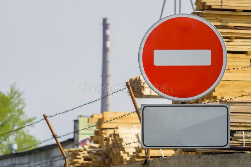 Sinal, símbolo a zona industrial fotografia de stock royalty free