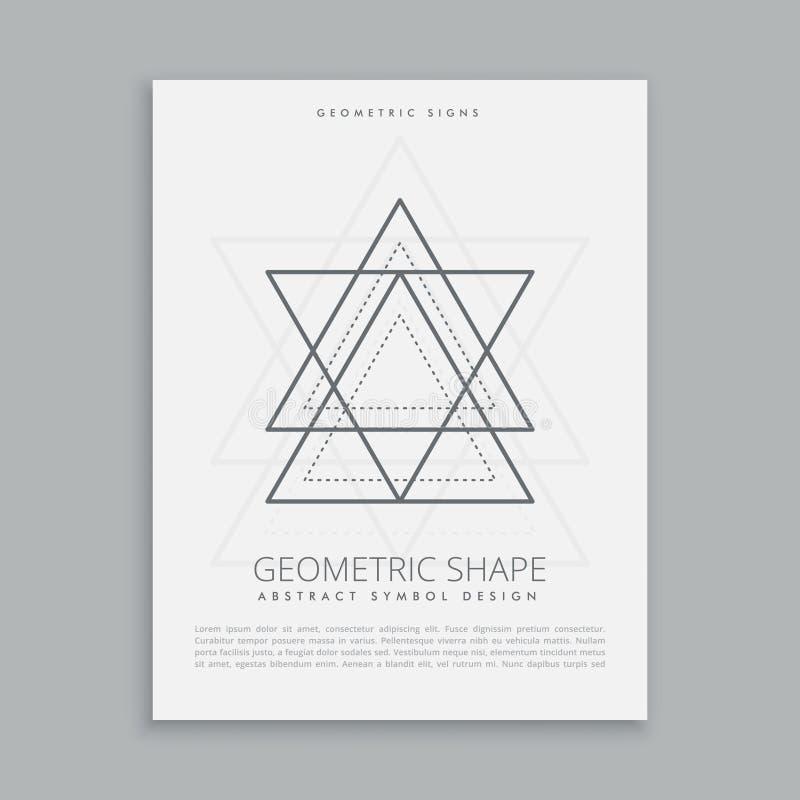 Sinal sagrado da geometria ilustração royalty free