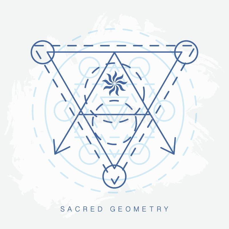 Sinal sagrado da geometria ilustração stock