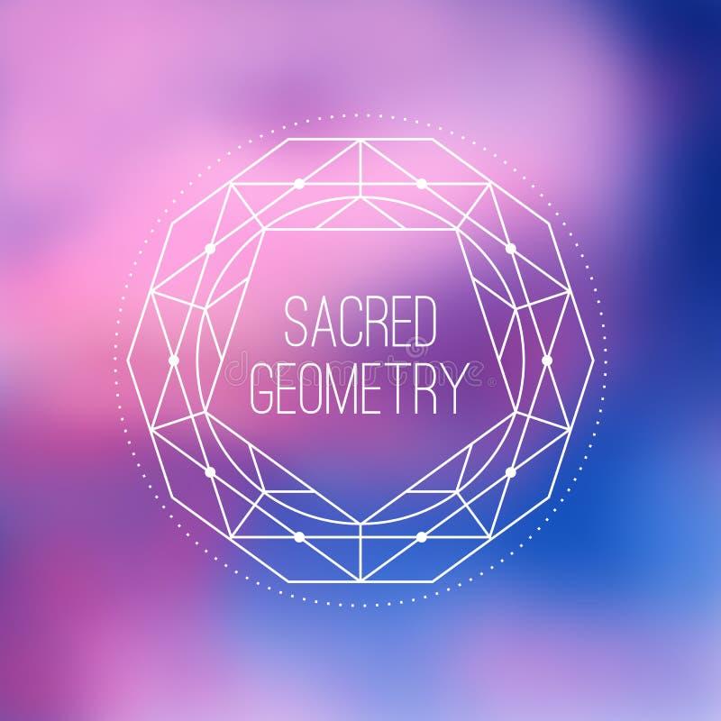 Sinal sagrado do vetor da geometria Flor do símbolo da vida ilustração royalty free