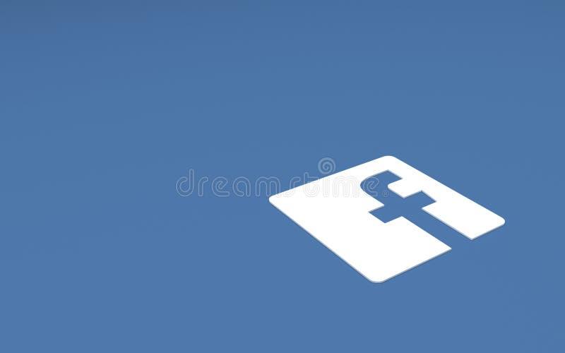 Sinal social do facebook da rede de Tehran IRÃ 21 de abril de 2016 - ilustração do vetor