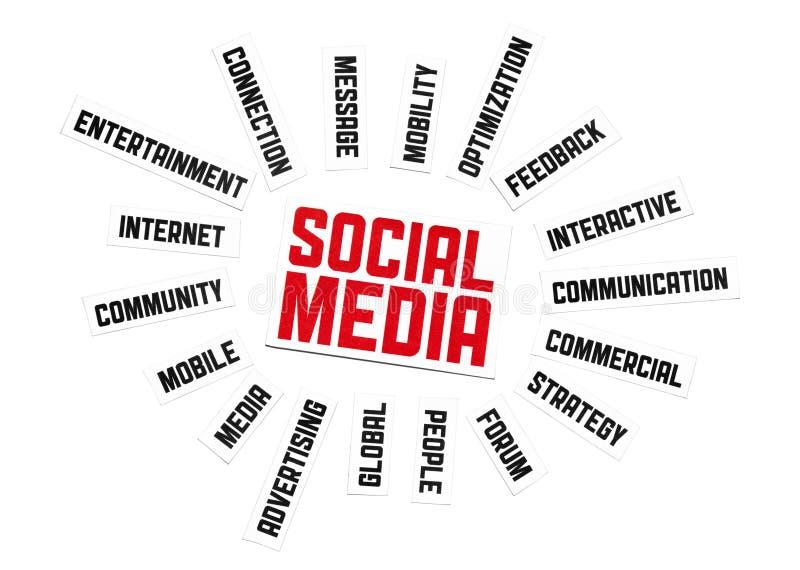 Sinal social dos media ilustração royalty free