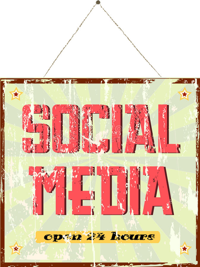 Sinal social dos media ilustração stock