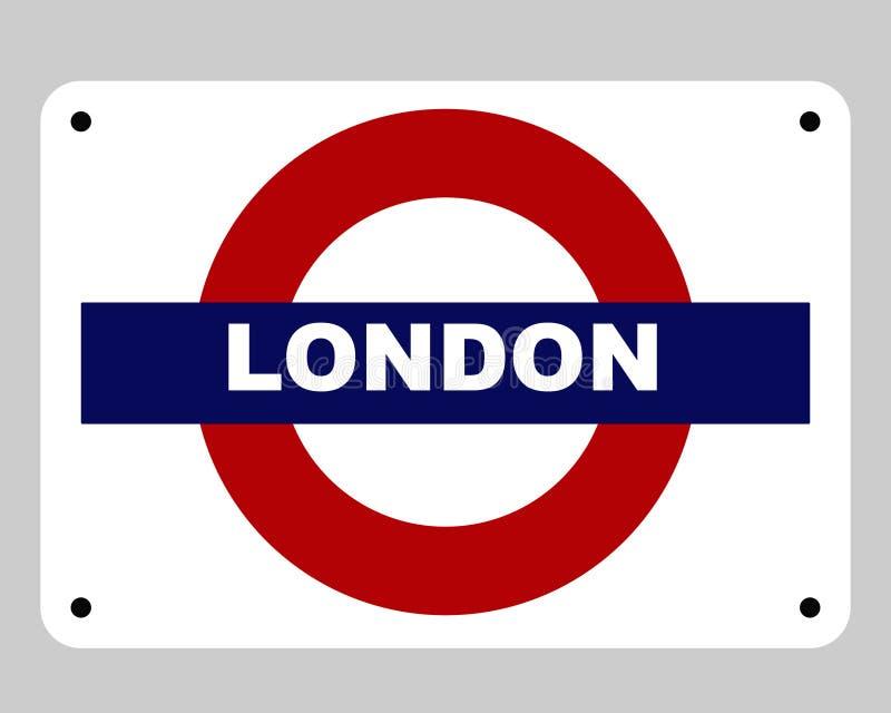 Sinal subterrâneo da câmara de ar de Londres ilustração royalty free