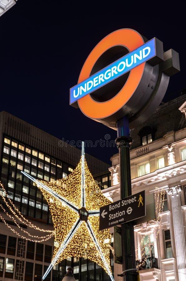 Sinal subterrâneo de Londres foto de stock royalty free