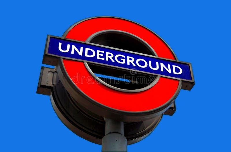 Sinal subterrâneo do transporte de Londres imagem de stock royalty free