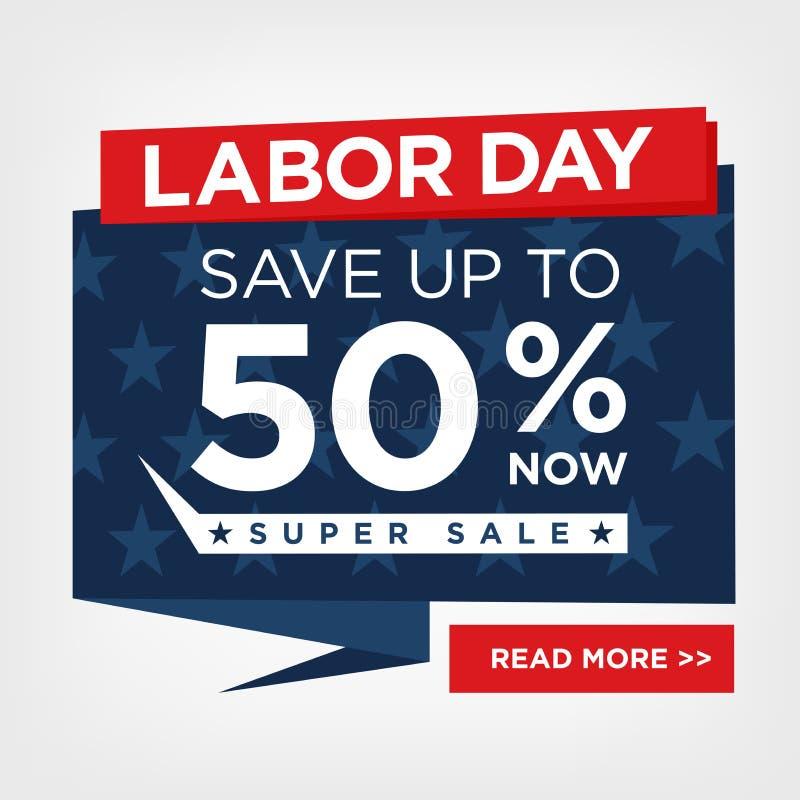 Sinal super da venda do Dia do Trabalhador ilustração royalty free