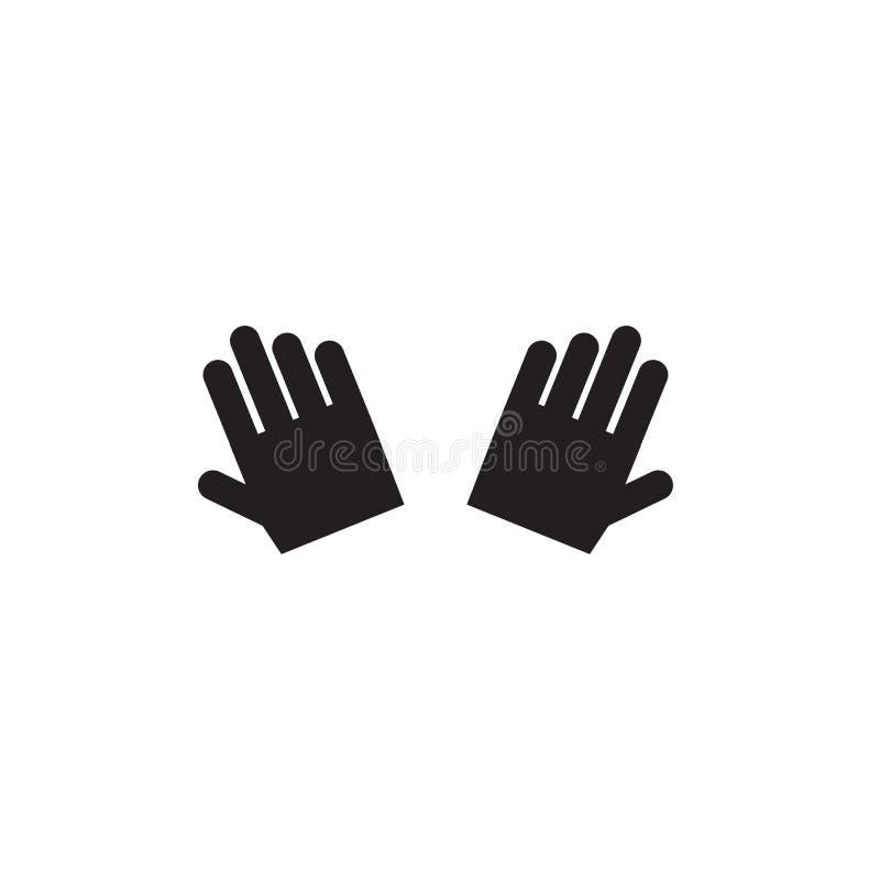 Sinal surdo e símbolo do vetor do ícone da linguagem gestual isolados no fundo branco, conceito surdo do logotipo da linguagem ge ilustração stock