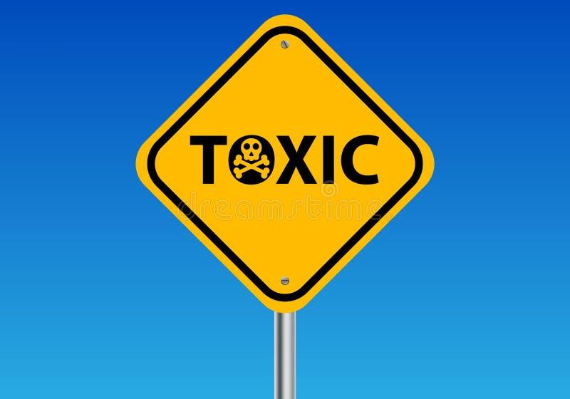 Sinal tóxico ilustração royalty free