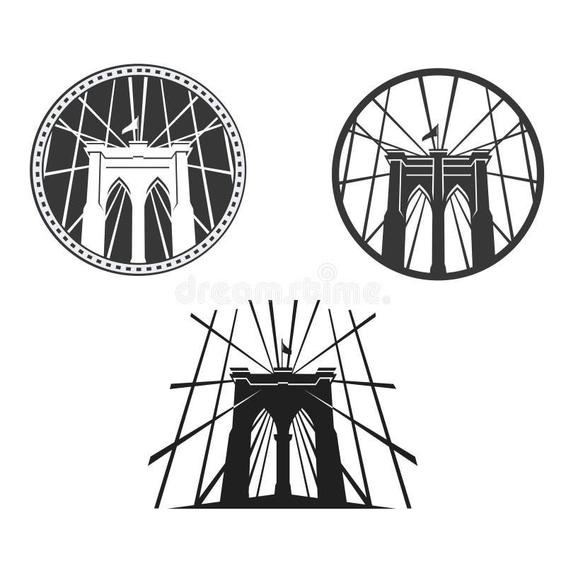 Sinal, tijolos, perto da ponte de Brooklyn ilustração royalty free