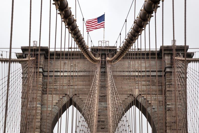 Sinal, tijolos, perto da ponte de Brooklyn New York imagens de stock