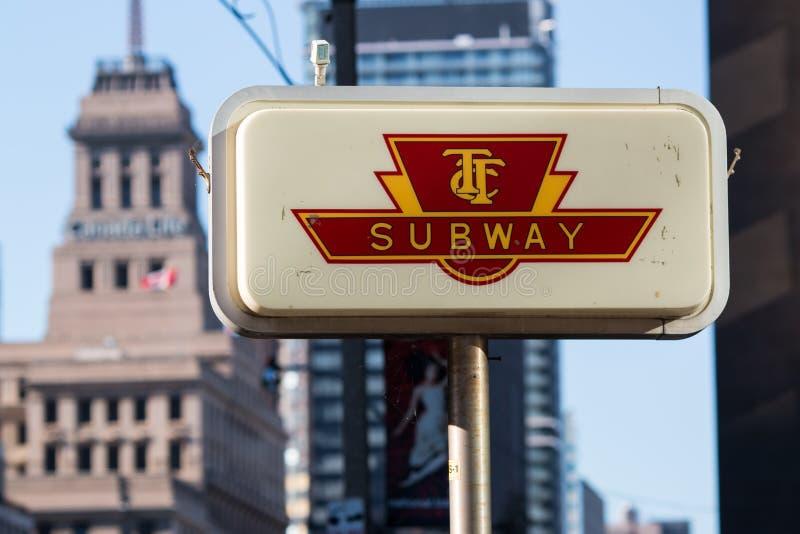 Sinal Toronto do metro de TTC fotos de stock