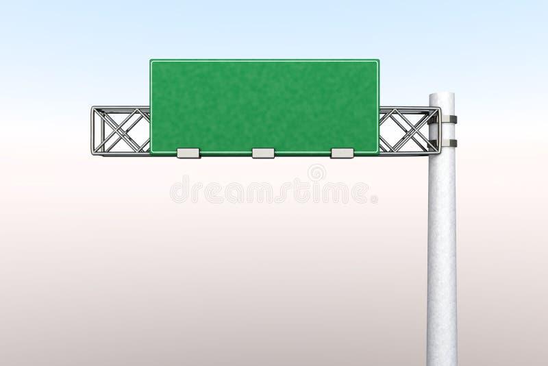Sinal vazio da estrada ilustração stock