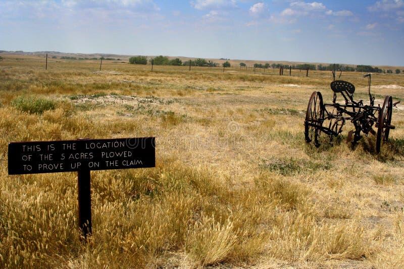 Sinal velho da vida da exploração agrícola foto de stock