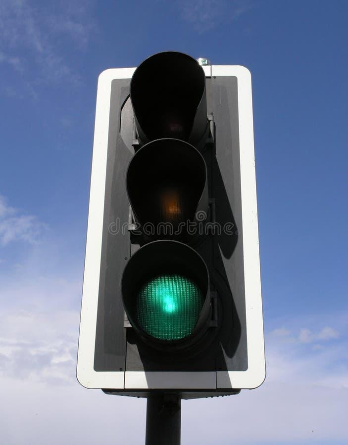 Sinal verde foto de stock royalty free