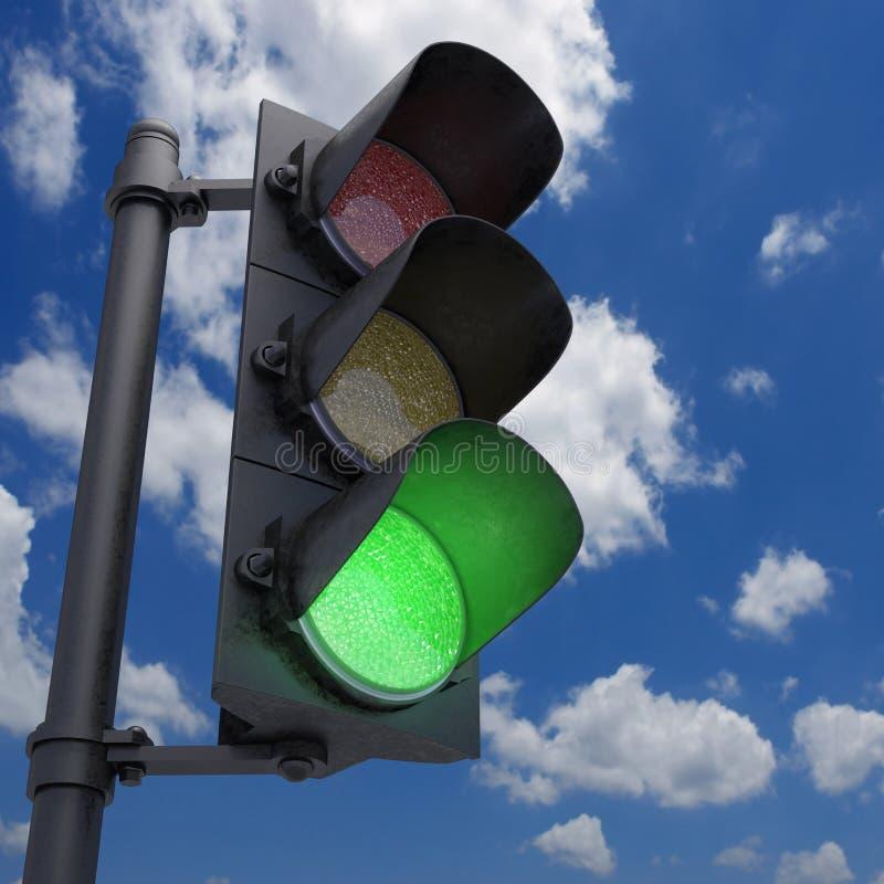 Sinal - verde foto de stock