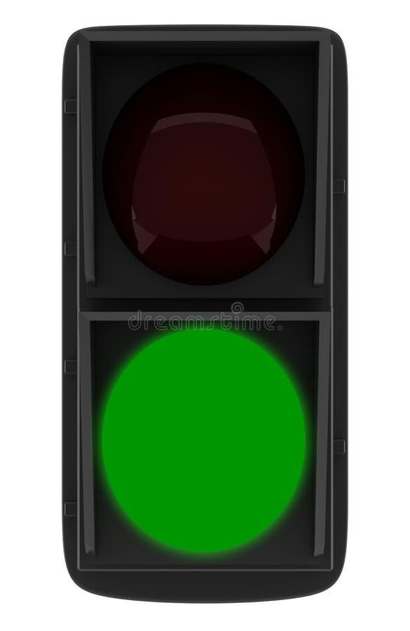 Sinal verde isolado no branco ilustração do vetor