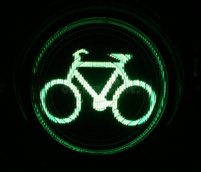 Sinal verde para motociclistas fotografia de stock royalty free
