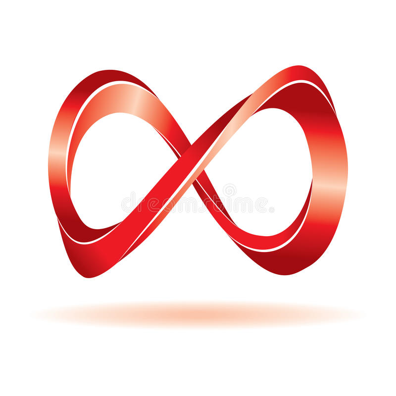 Sinal vermelho da infinidade ilustração royalty free
