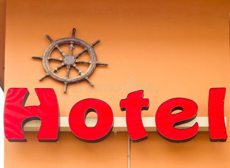 Sinal vermelho do hotel foto de stock royalty free