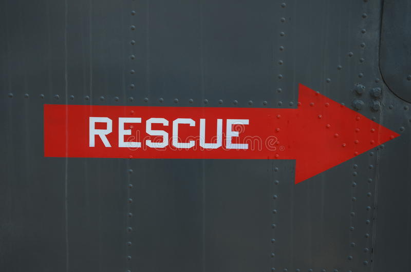 Sinal vermelho do salvamento da emergência fotos de stock royalty free