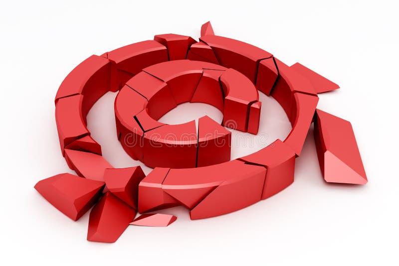 Sinal vermelho quebrado dos direitos reservados ilustração stock