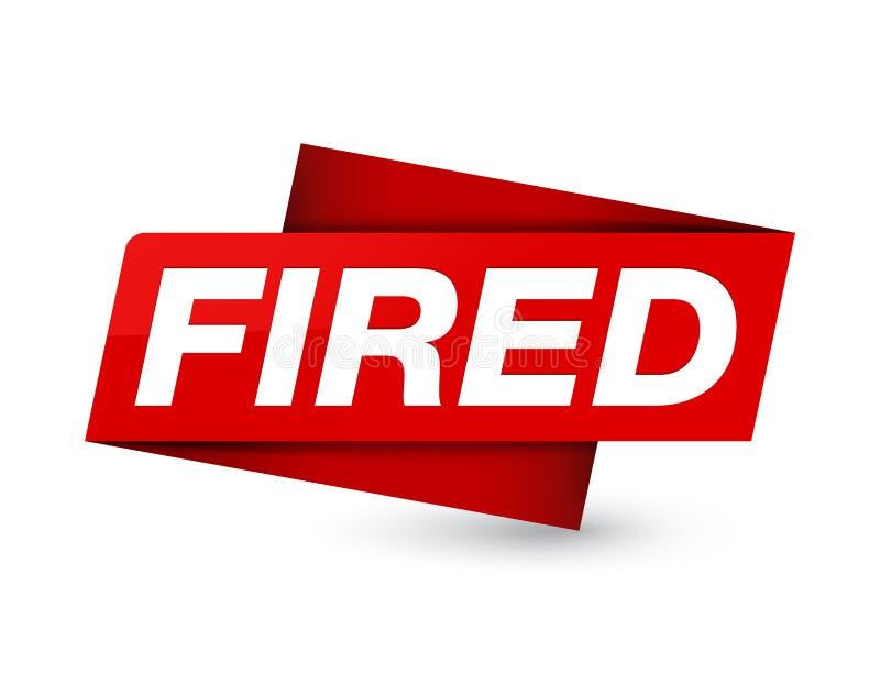 Sinal vermelho superior ateado fogo da etiqueta ilustração royalty free