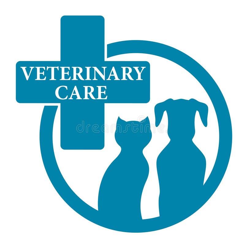 Sinal veterinário médico azul ilustração royalty free