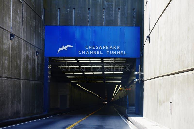 Sinal Virgínia EUA do túnel do Canal da Mancha do Chesapeake imagens de stock royalty free