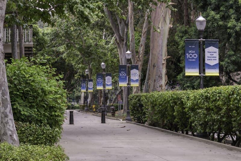 Sinalização do Campus da UCLA foto de stock royalty free