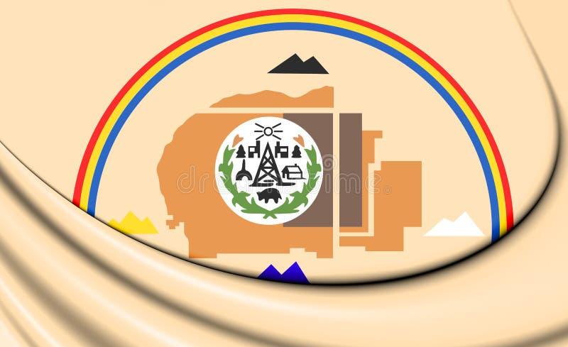Sinalizador 3D da Nação Navajo ilustração stock