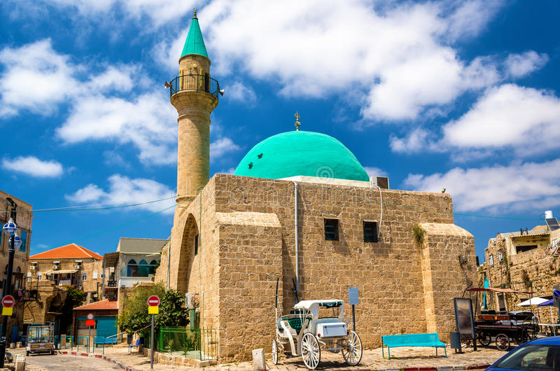 Sinan Basha Mosque in the old town of Acre stock photos