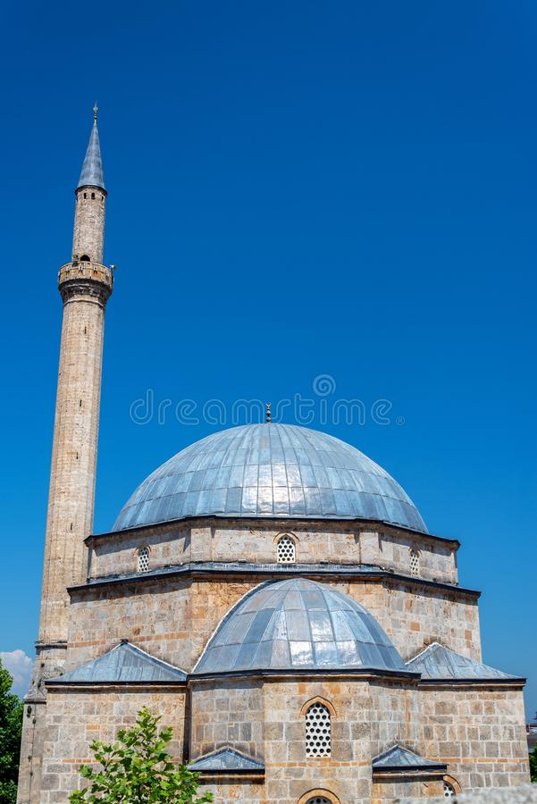 Sinan Pasha Mosque and Blue Sky stock images